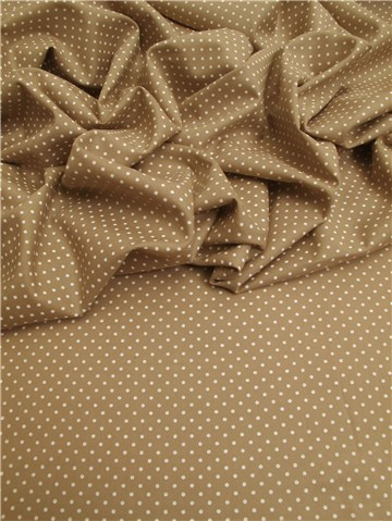 Lawn Batiste - Pois 1,5 mm - Taupe