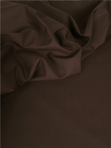 "Coton ""Rainproof"" - uni - Dark Brown"