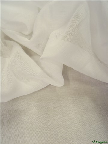 Combed Cotton Muslin - Plain - Blanc