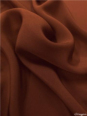 Crêpe marocain de soie lourd marron