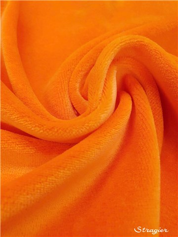 Jersey Velours - uni - Orange