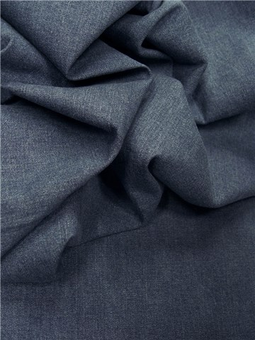 Denim Fabric - stretch - Plain - Blue