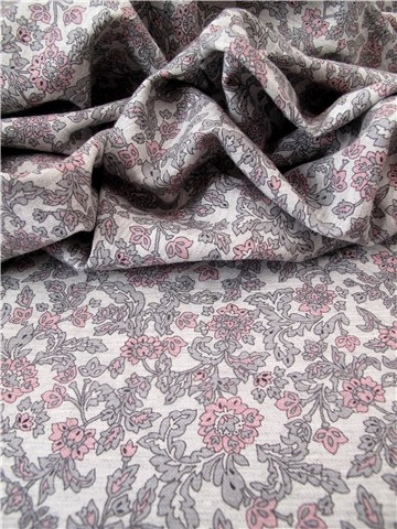 Twill Coton léger - Isabella - Gris rose