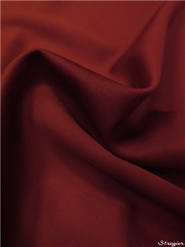 Wool Satin - Plain - Brique