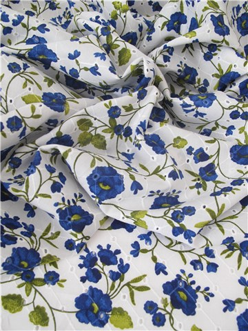Broderie anglaise - Sibylline - Bleuet