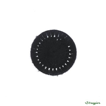 Thread Buttons - Elisabeth - Noir - 15 mm