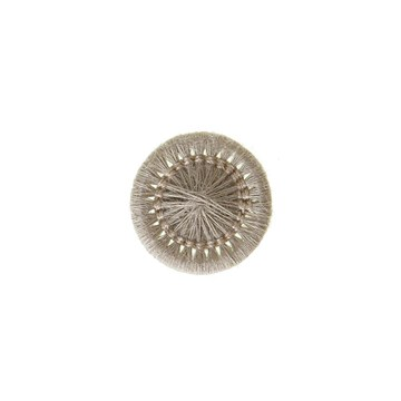 Thread Buttons - Elisabeth - Beige Taupe - 12 mm