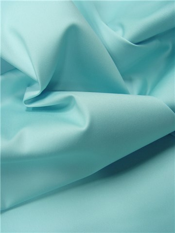 Cotton Satin - Stretch - Plain - Lagon