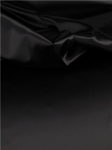 Satin Duchesse Stretch - uni - Noir