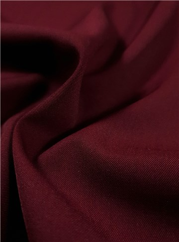 Twill Laine Micro bi-stretch - Uni - Bordeaux