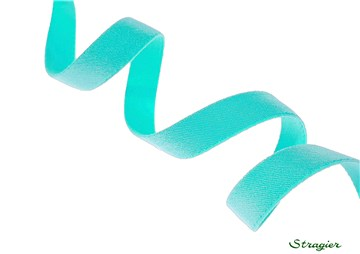 Satin Ribbon - stretch - Plain - Turquoise Clair - 10 mm