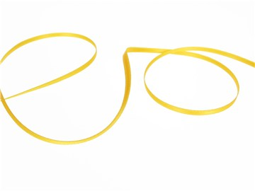 Double Face Satin Ribbon - Plain - 26 Jaune - 3 mm