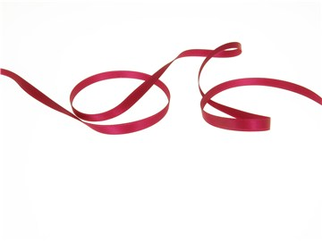 Double Face Satin Ribbon - Plain - 91 Fuchsia - 6 mm