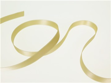 Double Face Satin Ribbon - Plain - 614 White Coffee - 10 mm