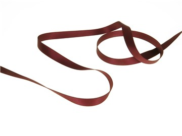 Double Face Satin Ribbon - Plain - 357 Dark Ruby - 10 mm