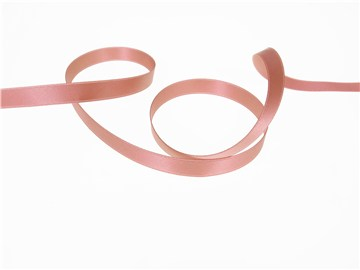 Ruban Satin double face - uni - 77 Vieux Rose - 10 mm