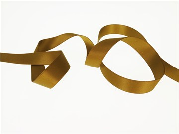 Double Face Satin Ribbon - Plain - 95 Messing - 16 mm
