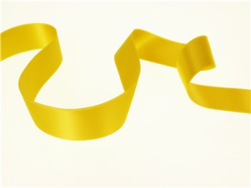 Double Face Satin Ribbon - Plain - 45 Gold - 25 mm