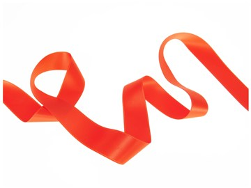 Ruban Satin double face - uni - 79 Orange - 25 mm