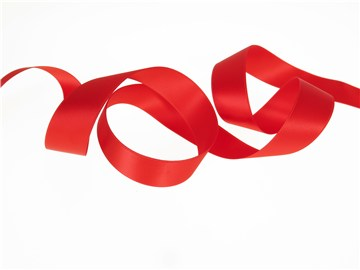 Double Face Satin Ribbon - Plain - 20 Rouge - 25 mm