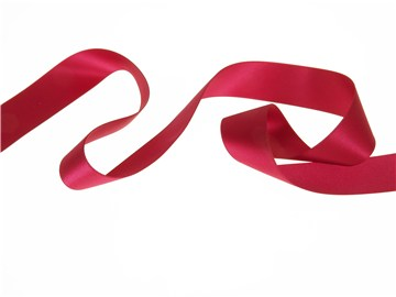 Double Face Satin Ribbon - Plain - 78 Wine - 25 mm