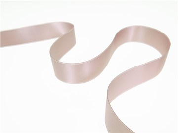 Double Face Satin Ribbon - Plain - 254 Misty Rose - 25 mm