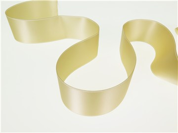 Double Face Satin Ribbon - Plain - 614 White Coffee - 40 mm