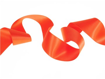 Ruban Satin double face - uni - 79 Orange - 40 mm