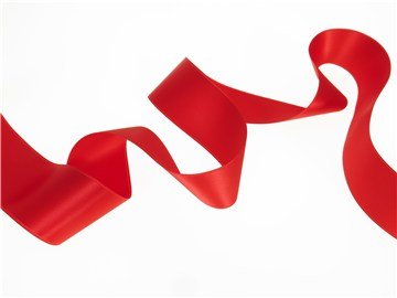 Double Face Satin Ribbon - Plain - 20 Rouge - 40 mm