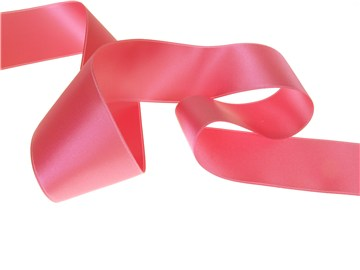 Double Face Satin Ribbon - Plain - 62 Shocking - 40 mm