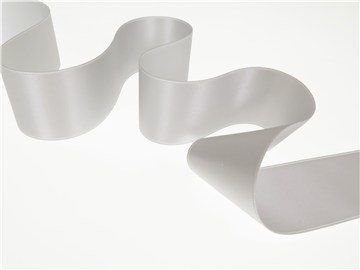Double Face Satin Ribbon - Plain - 30 Silver - 40 mm