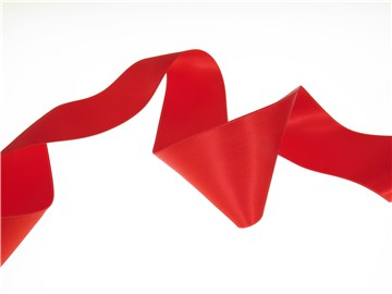 Double Face Satin Ribbon - Plain - 25 Flame - 50 mm