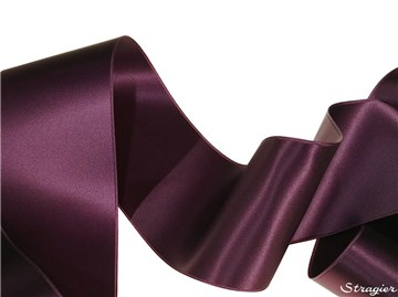 Ruban Satin double face - uni - 456 Prune - 70 mm