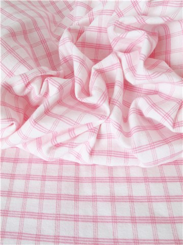 Flanelle de Coton - Carreaux - Rose - 235 cm
