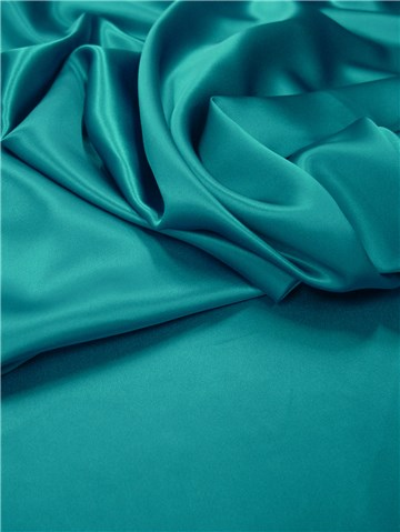 Silk Satin Crepe - Plain - Peacock