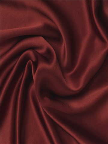 Silk Satin Crepe - Plain - Wine