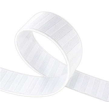 Non Roll Elastic - Plain - Blanc - 25 mm