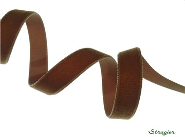 Velvet Ribbon - Plain - 539 Tabac - 16 mm