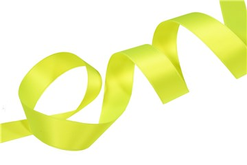 Double Face Satin Ribbon - Plain - 01 Neon Yellow - 25 mm