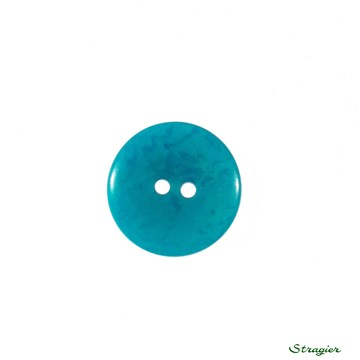 Ivory-Nut Buttons - 2 Trous - Turquoise - 20 mm