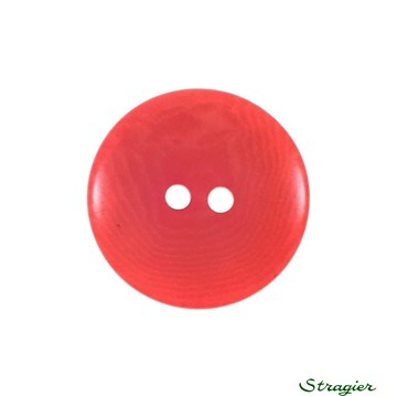 Ivory-Nut Buttons - 2 Trous - Corail - 20 mm