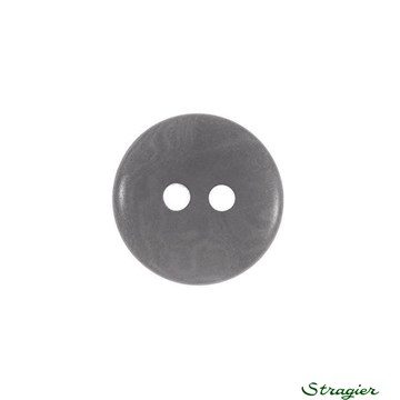 Ivory-Nut Buttons - 2 Trous - Gris - 15 mm
