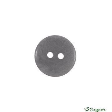 Ivory-Nut Buttons - 2 Trous - Gris - 13 mm