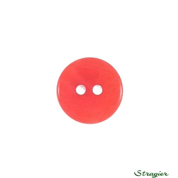 Ivory-Nut Buttons - 2 Trous - Corail - 13 mm