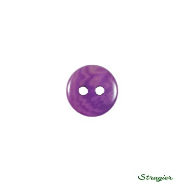 Ivory-Nut Buttons - 2 Trous - Violet - 10 mm
