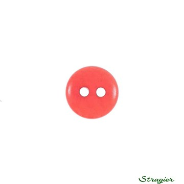 Ivory-Nut Buttons - 2 Trous - Corail - 10 mm