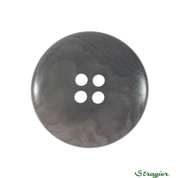 Ivory-Nut Buttons - 4 Trous - Gris - 23 mm