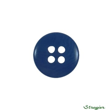 Ivory-Nut Buttons - 4 Trous - Indigo - 15 mm