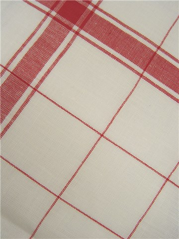 Linen Tea Towel - Carreaux 5cm - Rouge