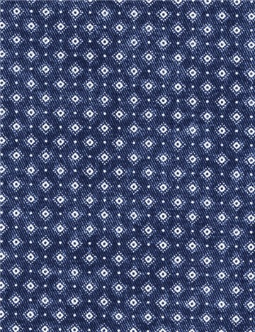 Denim Fabric - printed - Minilosa - Bleu indigo